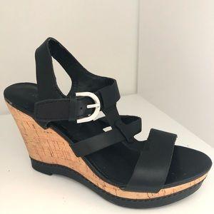 Franco Sarto wedges black 7.5 heels shoes
